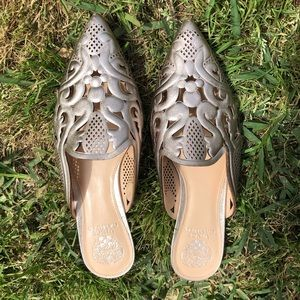 Gold/Chrome Vince Camuto Flats Size 9